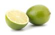 Fresh lime fruit Isolated on white background