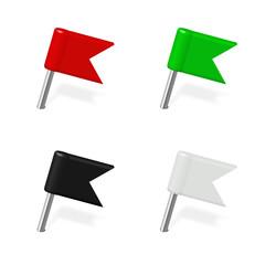 Pin, Fahne