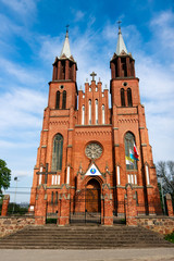 Neogothic Church in Plonka Koscielna
