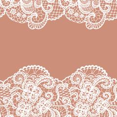 Seamless lace border. Invitation card.