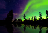 Fototapeta Northern lights aurora borealis