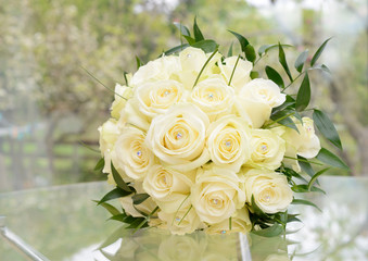 Brides flower arrangement