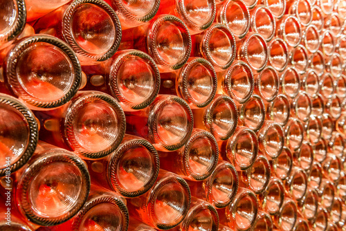 A row of champagne bottles - Wine cellar