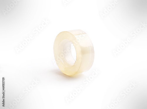 Scotch tape isolated on the white background .
