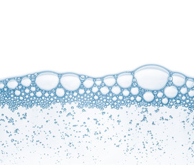 Bubbles in the water. Abstract background