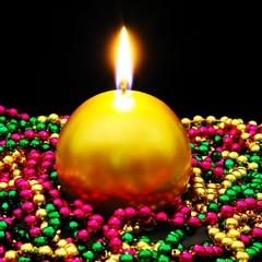 Round Christmas candle © Arena Photo UK