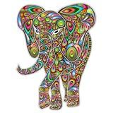 Psychodeliczny słoń Pop Art