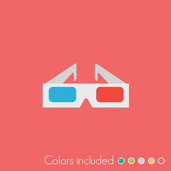 3d glasses - FLAT UI ICON COLLECTION