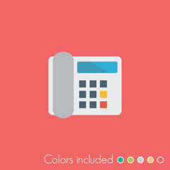 Telephone - FLAT UI ICON COLLECTION
