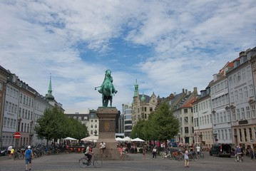 The equestrian statue of Absalon in Public Square, Denmaark