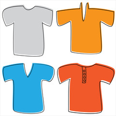 T-shirts for men isolated on white background