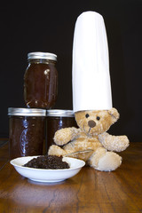 Bear Chef with Apple Butter