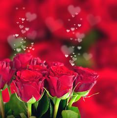 rote Rosen und Herzen-Muttertag