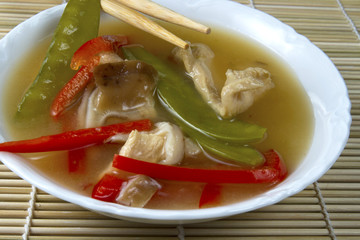 Bowl of Asian Chicken Soup