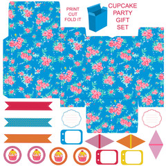 Gift box template and Party set