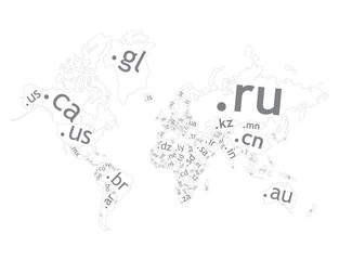 Map of the world top-level domain