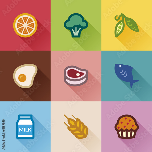 Food groups. Flat design