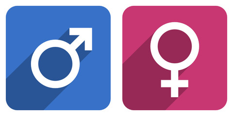 male female gender icons