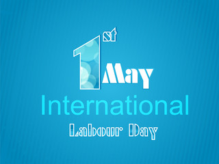 World Labour Day concept with stylish text on shiny background.