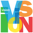 VISION Letter Collage (business strategy leadership excellence)