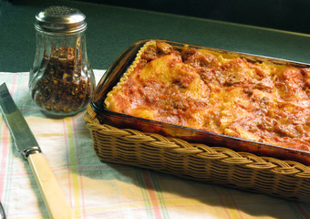 Lasagne Hot from the Oven