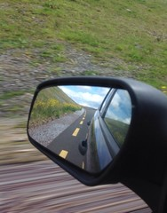 rear view mirror speed