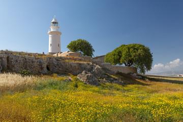 Paysage et phare de Paphos