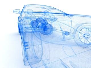 Car design background.