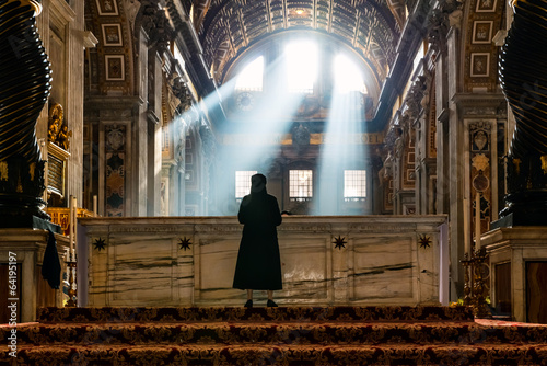 Foto op Plexiglas Bedehuis Lights of the Vatican