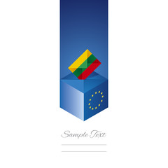 EU elections in Lithuania vector