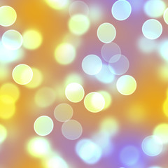Golden Bokeh Circles