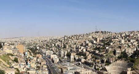 Panoramic view of Amman's skyline, Jordan
