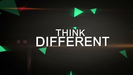 Think Different and Be Creative Looping animation
