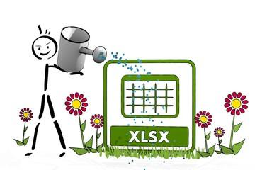 stick man watering a xlsx