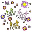canvas print picture - spring flower Familie  collectrion
