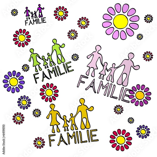 canvas print picture spring flower Familie  collectrion