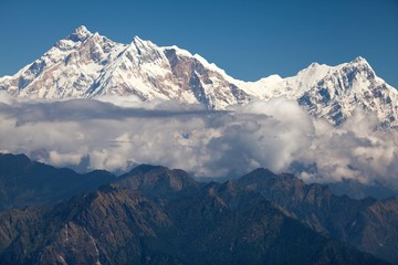 Clouds around Annapurna