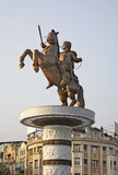 Warrior on a Horse in Skopje. Macedonia poster