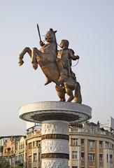 Warrior on a Horse in Skopje. Macedonia