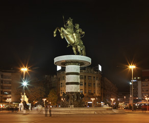 Warrior on a Horse in Skopje. Macedonia