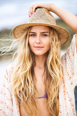 Fashion lifestyle, Attractive woman in hat