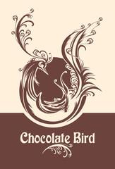 Chocolate bird.  Symbolic image of bird.