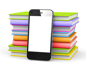 Smart phone with books