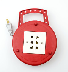 Power plug isolated white background