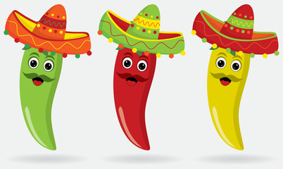 Mexican Jalapenos in sombreros!