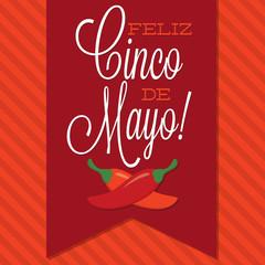 Retro style Cinco de Mayo (Happy 5th of May) card in vector form