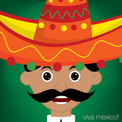 Mexican Man Character in vector format.