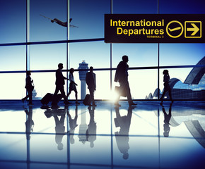 Business People on Business Travel in Airport