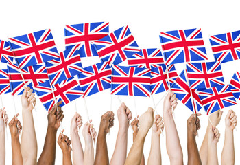 Human Hands Holding Union Jack