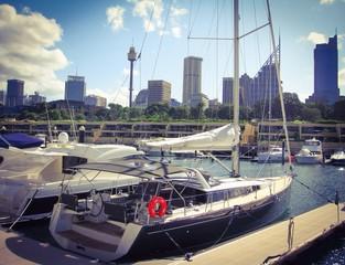 The yachts in Sydney, Australia
